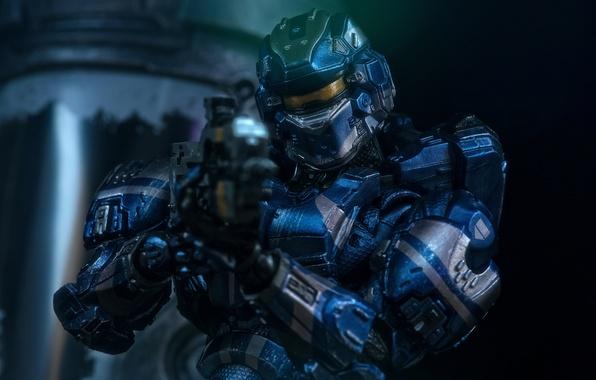 Cool Battlefield 4 Fire Armor In Black Background: Обои игрушка, костюм, броня, Halo 4 картинки на рабочий