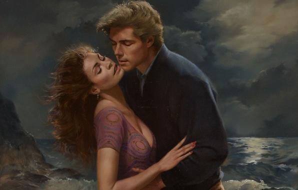 Картинка рисунок, живопись, художник-иллюстратор, Ed Tadiello, romance illustration