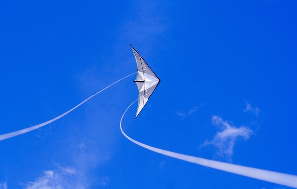 Картинка небо, синий, воздушный змей