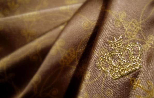 Картинка золото, корона, ткань
