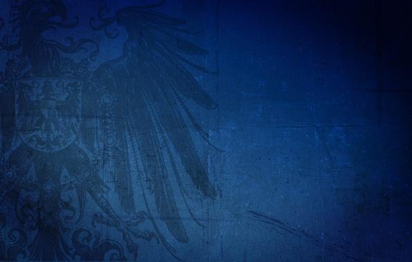 Картинка синий, фон, птица, герб