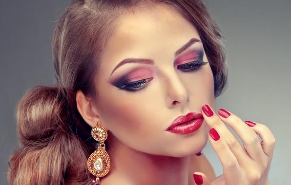 Картинка глаза, лицо, Девушки, губы, beauty, lips, face