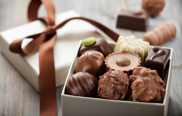 Картинка бантик, box, коробочка, bow, конфетное ассорти, assorted candy