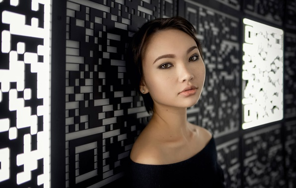 Картинка веснушки, Maxim Guselnikov, портретное фото, Карина Ким