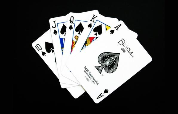 Картинка карты, масть, флеш-рояль, покер