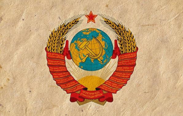 Фото обои ссср, герб, обои, серп и молот