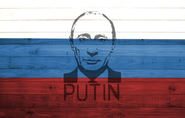 Картинка red, white, Russia, wood, blue, flag, colour, President, Putin