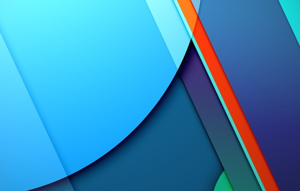 Картинка Android, Red, Circles, Blue, Design, 5.0, Line, Colors, Lollipop, Stripes, Abstraction, Material