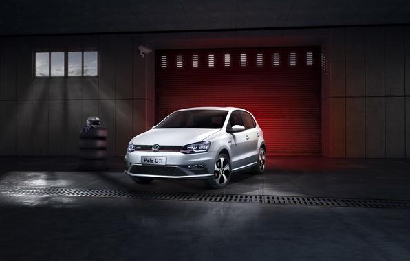 Картинка Volkswagen, GTI, фольксваген, Polo, поло, 2015, CN-spec, Typ 6R