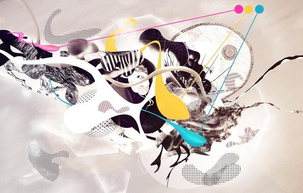 Картинка абстракция, креатив, коллаж, обои, арт