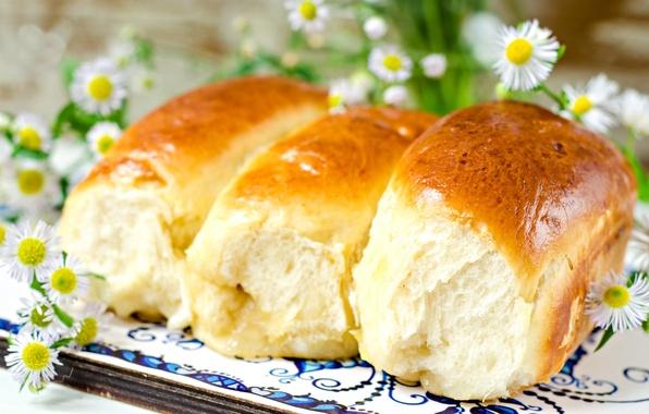 Картинка цветы, выпечка, булочки, аппетитные