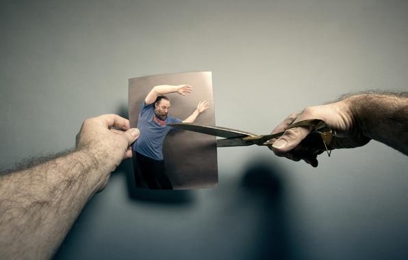 Картинка фото, человек, ножницы
