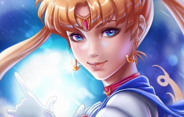 Картинка взгляд, аниме, Sailor Moon, Сейлор Мун