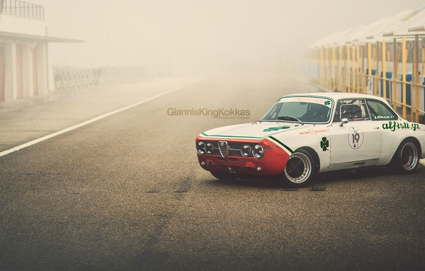"Картинка Alfa Romeo, retro, 1970, oldschool, Giulia, GTAm, By Giannis ""KING"" Kokkas, 1750"
