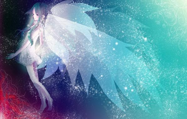 Картинка девушка, крылья, аниме, арт, saya no uta, saya, Song of Saya, песнь саи