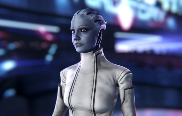 Картинка Mass Effect, asari, Liara T'Soni, scientist