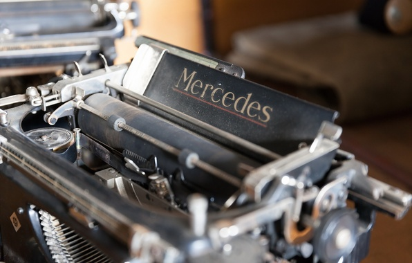 Картинка макро, фон, old typewriter