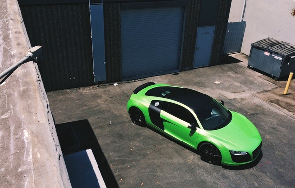 Картинка Ауди, Зеленый, Машина, Audi R8, Car, Автомобиль, Green, Sportcar