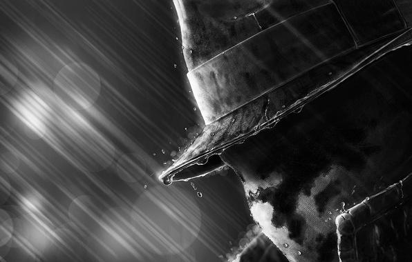 Картинка дождь, маска, Watchmen, хранители, Rorschach, Walter Kovacs