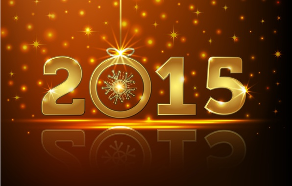 Картинка Новый Год, gold, New Year, Happy, 2015