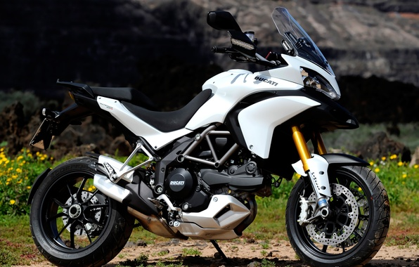Картинка мотоцикл, ducati, спортивный, белый.