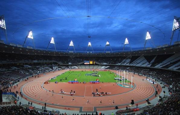Картинка лондон, стадион, зрители, легкая атлетика, олимпиада 2012