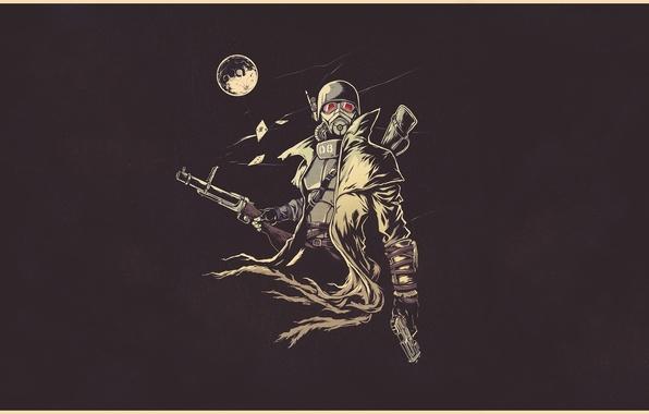 Картинка фантастика, луна, рисунок, арт, солдат, шлем, moon, броня, Fallout, soldier, armor, постапокалипсис, art, ranger, sci-fi, …