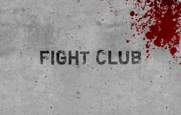 Картинка стена, кровь, минимализм, бойцовский клуб, fight club