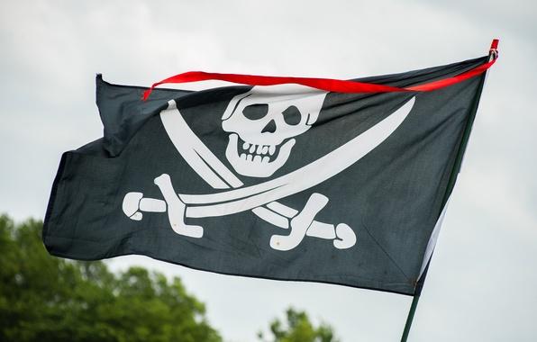 Картинка череп, флаг, веселый роджер