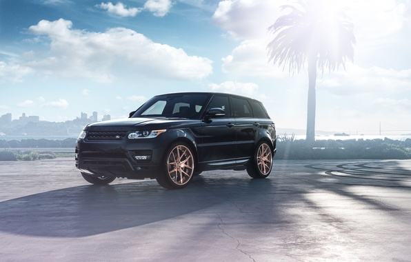 Картинка Land Rover, Range Rover, Car, Front, Sport, SUV, Wheels, Avant, Garde