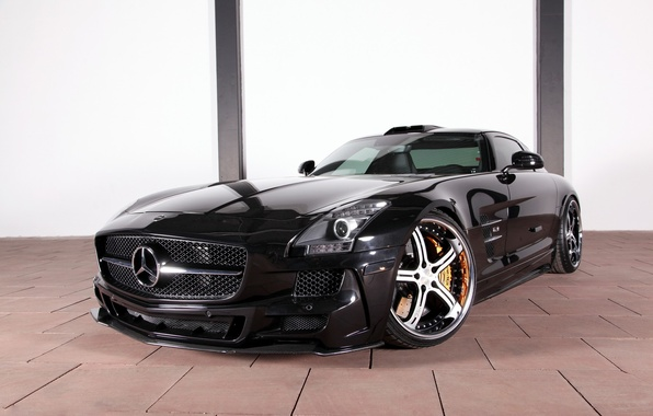 Картинка тюнинг, Mercedes-Benz, диски, мерседес, AMG, Germany, Coupe, SLS, передок, MEC Design, Tuner, V-8