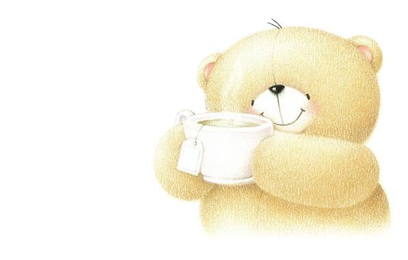 Картинка улыбка, настроение, добро, чай, арт, мишка, детская, Forever Friends Deckchair bear
