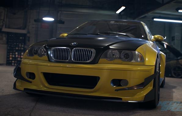 Фото обои BMW, tuning, E46, Need For Speed 2015