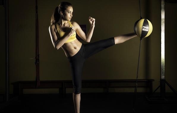 Картинка девушка, спорт, тренировка