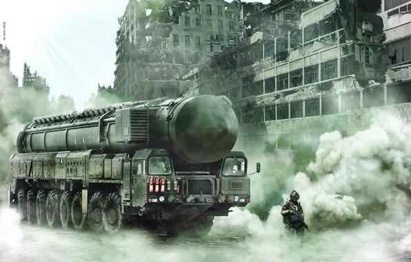 Картинка будущее, фантастика, война, солдат, постапокалипсис, тополь м