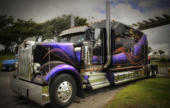 Картинка HDR, грузовик, Kenworth