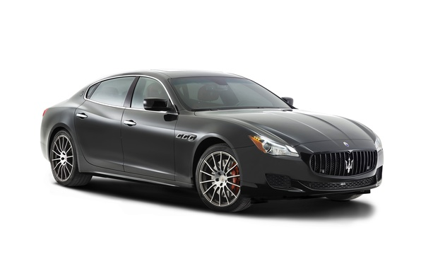 Картинка Maserati, Quattroporte, белый фон, мазерати, GTS, 2014, кватропорте