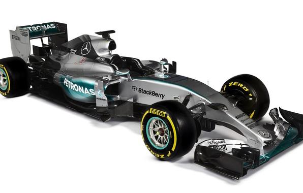Картинка формула 1, Mercedes, AMG, Hybrid, 2015, W06