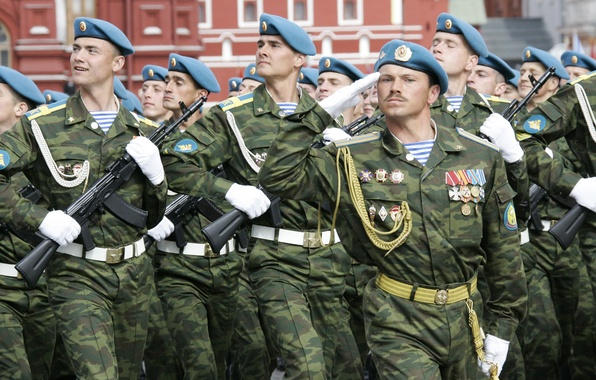 Картинка парад, Россия, красная площадь, ВДВ