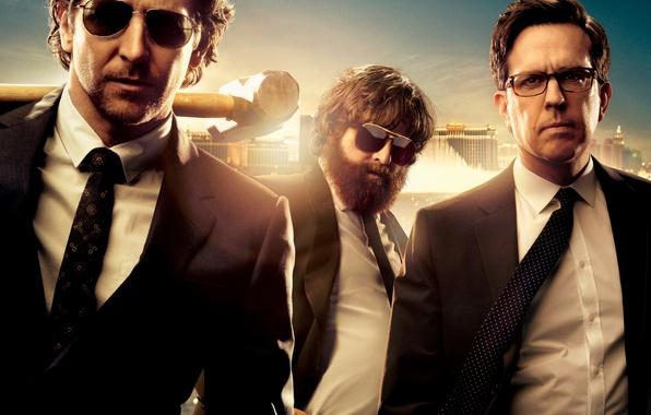 Картинка Black, Men, Zach Galifianakis, Alan, Bradley Cooper, Ed Helms, Man, Hammer, Pictures, Phil, Stu, Sunglasses, …
