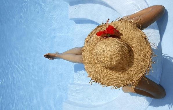 Картинка вода, шляпа, бассейн