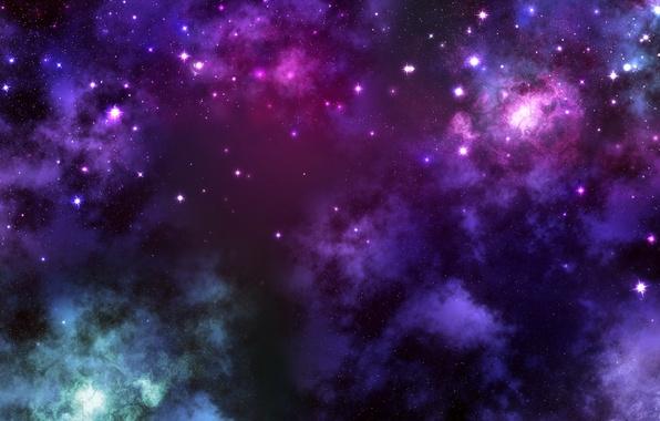 Картинка энергия, космос, звезды, облака