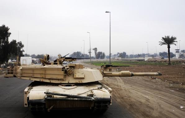 Картинка дом, война, улица, танк, usa, abrams, военная техника