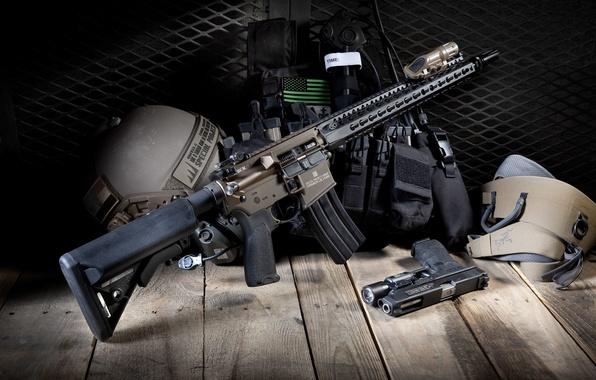 Фото обои BCM, AR-15, снаряжение, штурмовая винтовка, пистолет