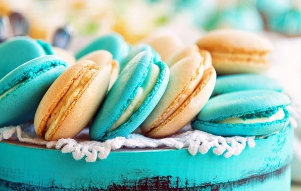 Картинка печенье, крем, десерт, выпечка, миндаль, сладкое, macaron, макаруны