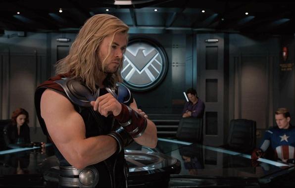 Картинка Халк, Капитан Америка, Тор, Мстители, The Avengers, Черная вдова