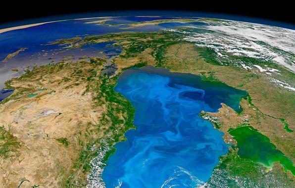 Картинка фото, планета, Земля, NASA, Черное море, фитопланктон