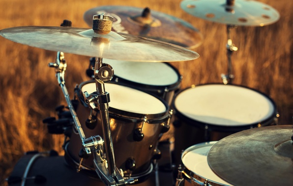 Картинка макро, природа, игра, music, барабаны, инструмент, барабан, установка, ударная, музыкальный, боке, professional, drums, musical, воздухе, …