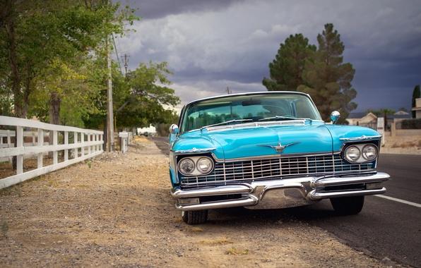 Картинка ретро, Imperial, Chrysler, классика, передок, 1957