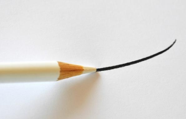 Картинка лист, цвет, линия, карандаш